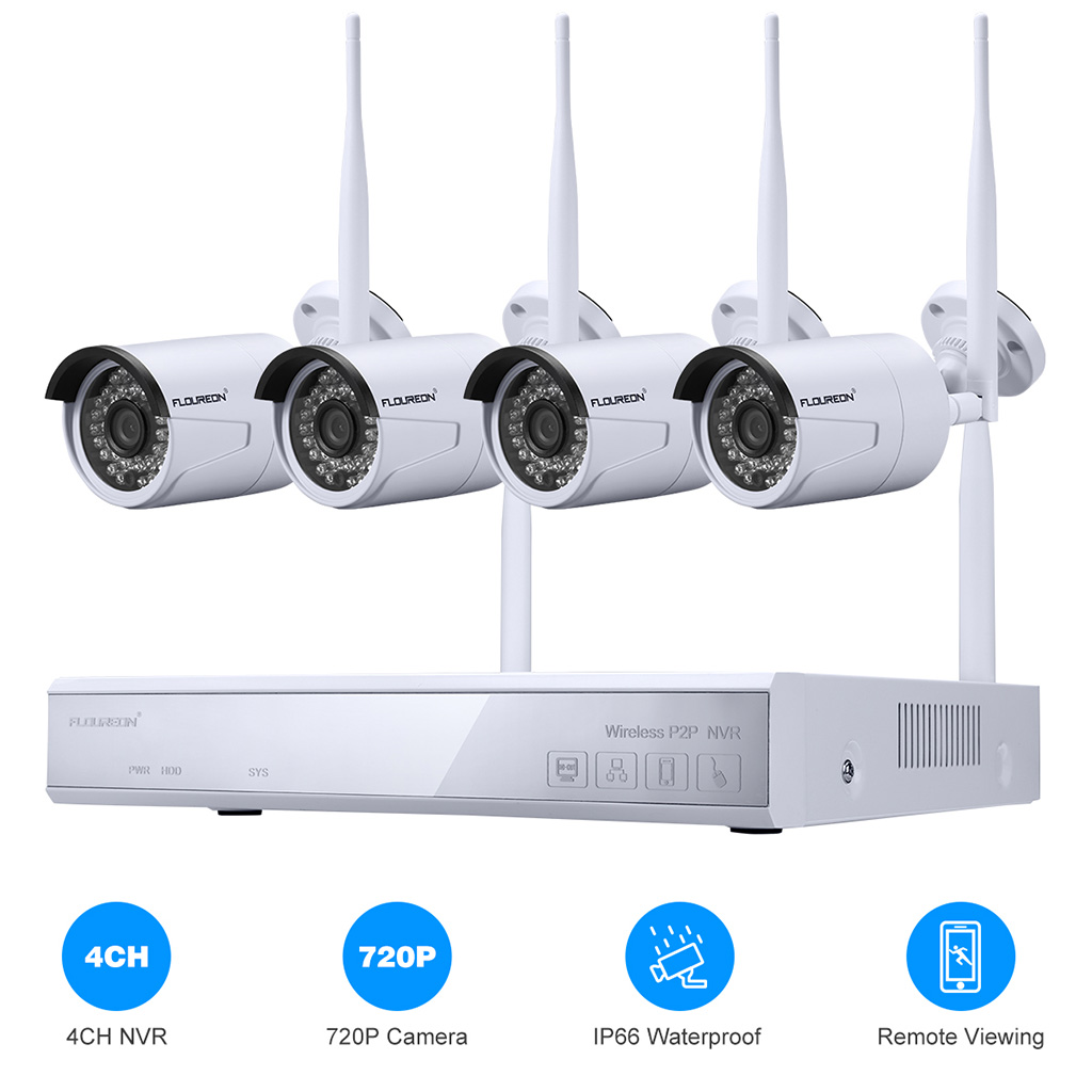 Details about FLOUREON 4CH Wireless CCTV 1080P DVR NVR Wifi WLAN Home  Security Camera System