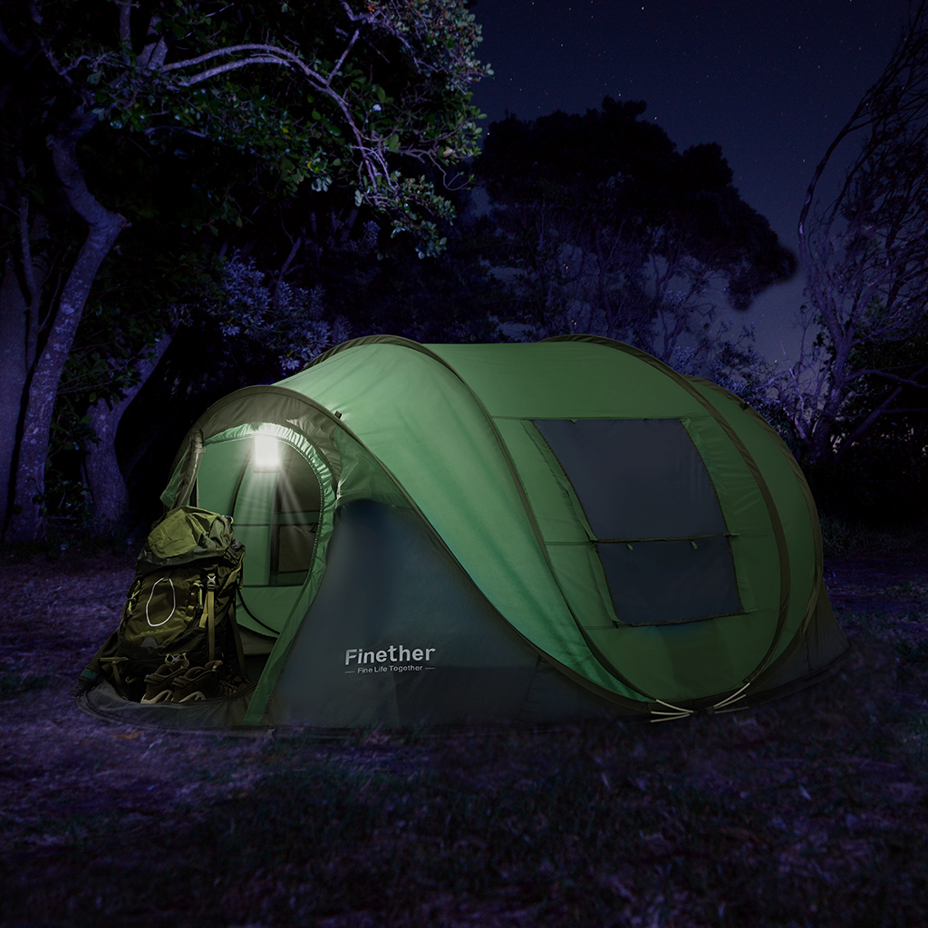 5 Person Camping Hiking Instant Pop Up Family Tent Outdoor