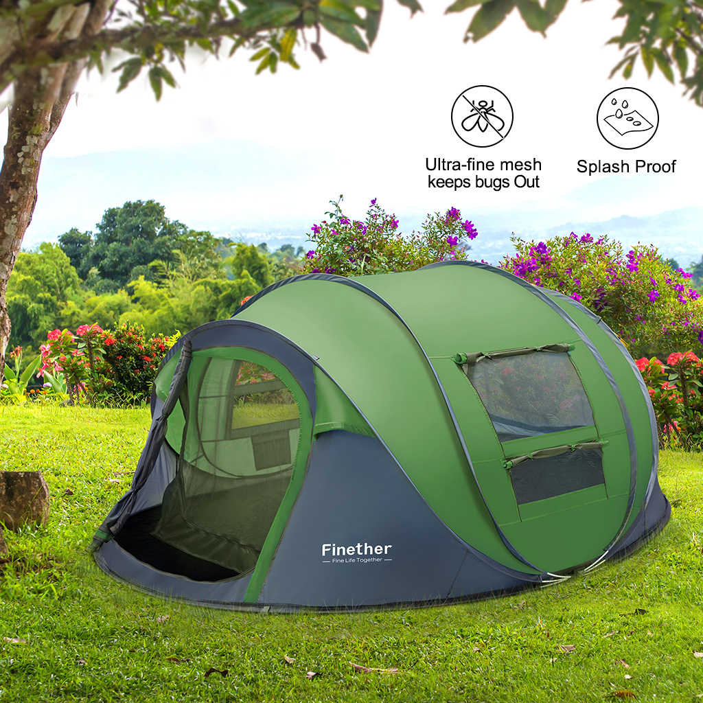 5 Person Outdoor Sports Instant Pop Up Tent Family Camping