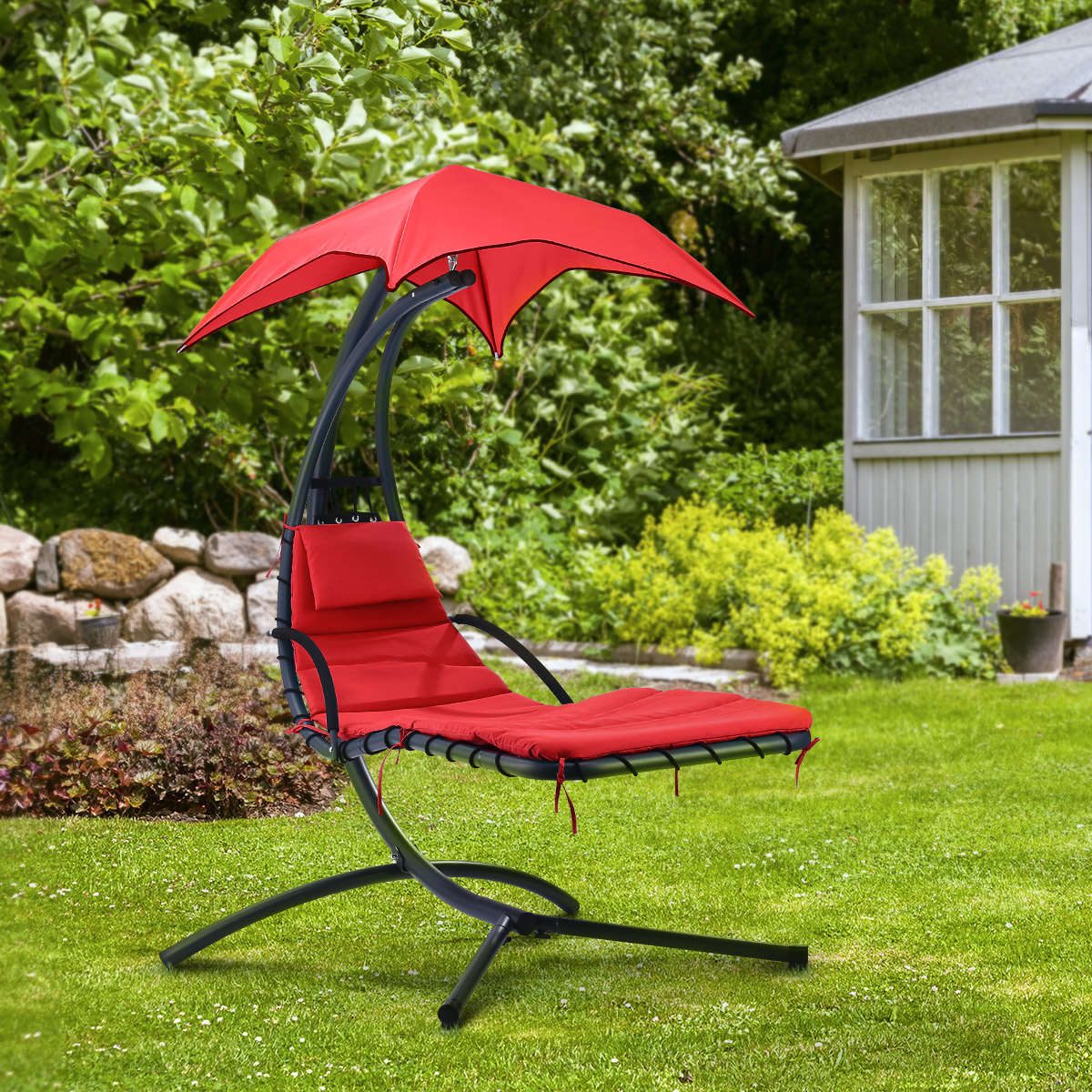 Hanging Chaise Lounge Hammock Chair Porch Patio Swing W