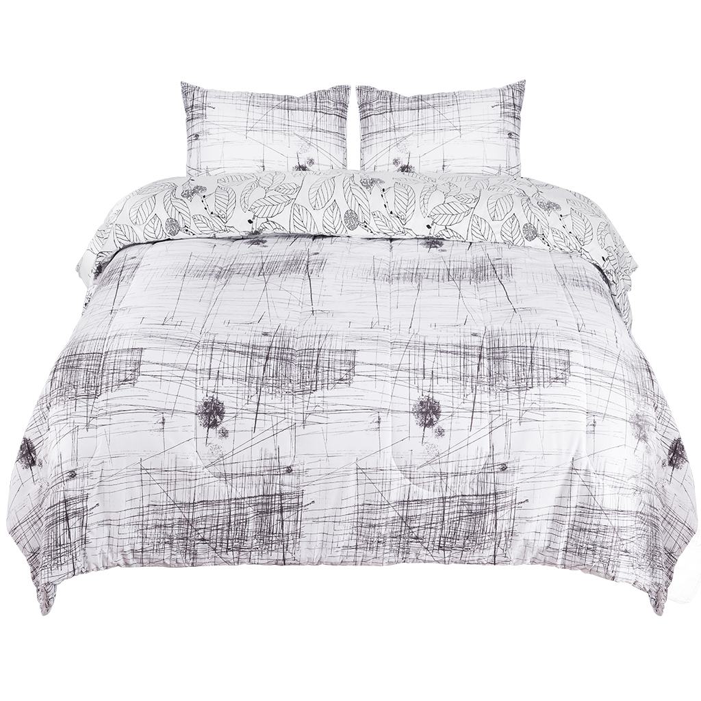 Down Alternative Reversible Comforter Set All Season