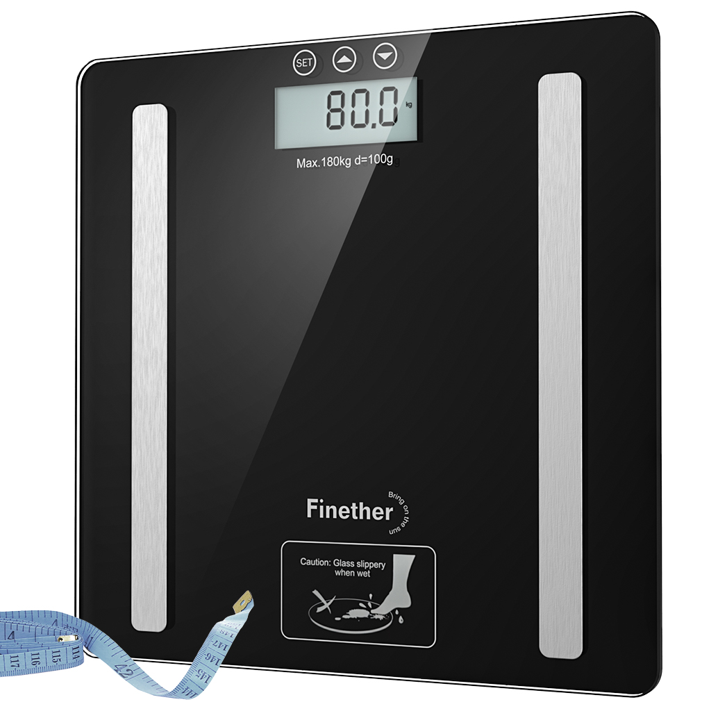 DIGITAL BODY FAT ANALYSER SCALES BMI COLORIE 180KG WEIGHING SCALE WEIGHT LOSS