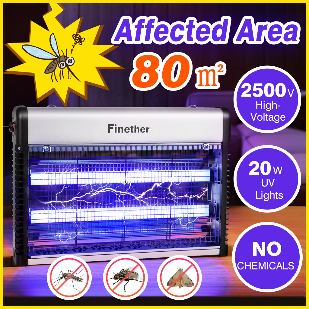 Electric UV Mosquito Fly Insect Killer Bug Zapper Trap