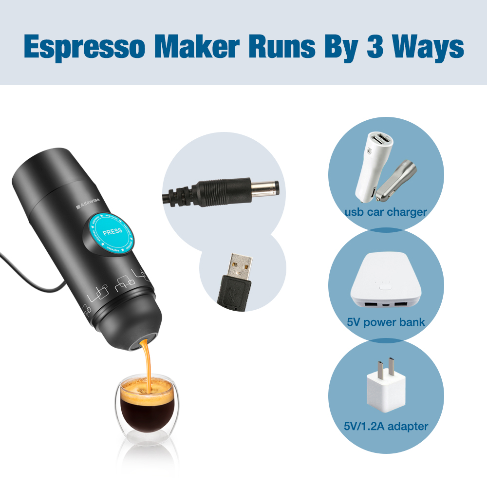 Portable Mini Electric Espresso Maker Coffee Machine Home Office Camping US PLUG eBay